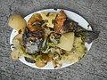 0099Nilagang repolyo, petsay Tagalog, kamote, patatas, kamatis at Pritong Dalag (Bulig) sa tanglad 25.jpg
