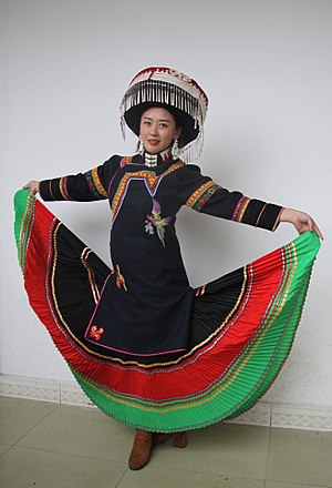 Yi people - Image: 00 Yi minority in traditional 00