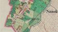 01852 Stadt Sanok in Galizien Sanoker Kreis, Niwa ogrody (cropped).png