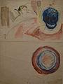 07-Edvard Munch, Kunstneren med kranium. Optisk illusjon under øyesykedommen.JPG