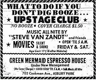 The Upstage Club - Flyer for The Upstage Club, courtesy of Brucebase.wikispaces.com