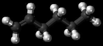 1-Hexene - Image: 1 Hexene 3D balls