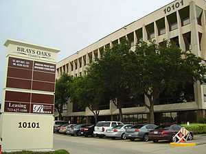 Brays Oaks, Houston - Brays Oaks Towers 10101 Fondren Road, which includes the Braeburn Storefront and the offices of State Representative Alma Allen