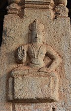1010 CE Brihadishwara Shiva Temple, wall relief, built by Rajaraja I, Thanjavur Tamil Nadu India