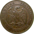 10 centimes Napoléon III 1855 Revers.png