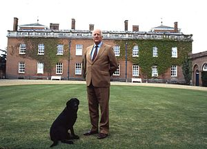 Euston Hall - The 11th Duke of Grafton in front of Euston Hall.