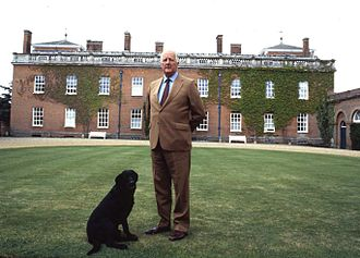 Euston Hall - The 11th Duke of Grafton in front of Euston Hall