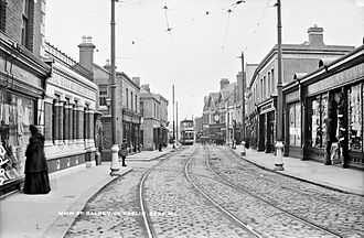 Dalkey - A tram in Dalkey in the early 20th century
