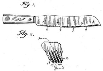 Bread knife - Burns patent bread knife