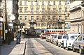 145R19170386 Peregringasse - Wipplingerstrasse, Blick Richtung Kolingasse, Strassenbahn Linie D, Typ E1 4535.jpg