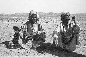 Ababda people - Ababda bedouin in Wadi um Ghamis (1961)