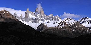 Fitz Roy - Panorama of Monte Fitz Roy in the morning