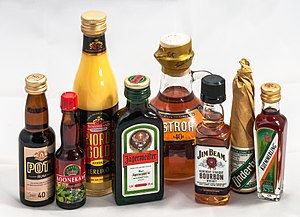 Distilled beverage - Some single-drink distilled beverage bottles available in Germany
