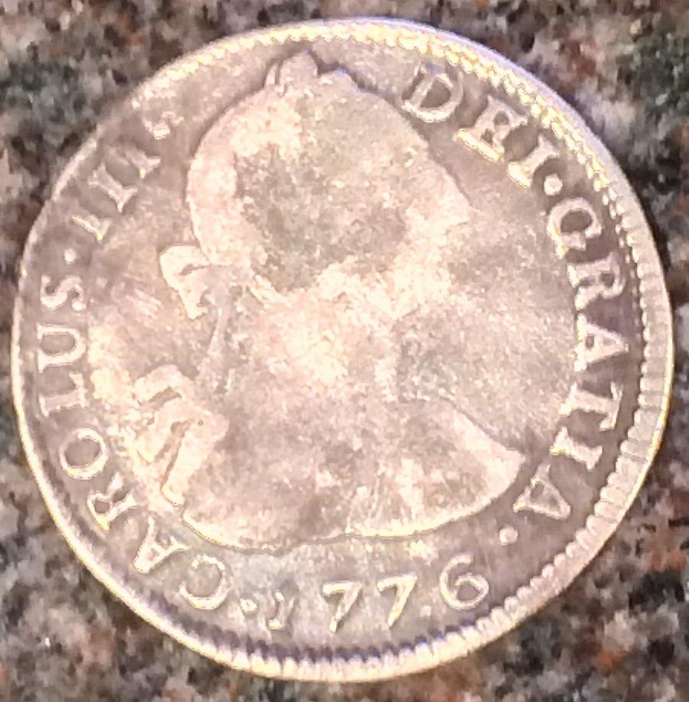 1776 Potosi 2 reales obv