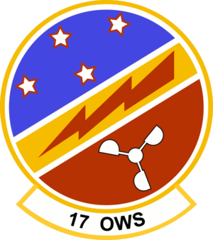17th Operational Weather Squadron - 17th Operational Weather Squadron Patch