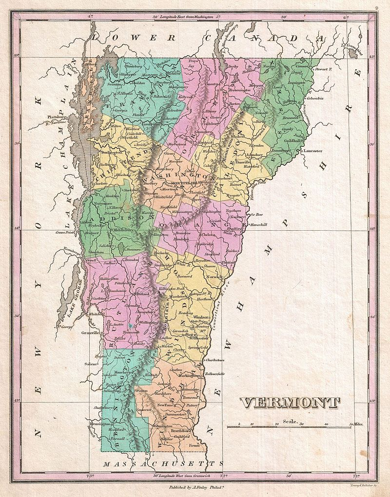 1827 Finley Map of Vermont - Geographicus - Vermont-finely-1827.jpg