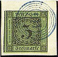 1853 3kr Baden 110blue Pfullendorf Mi6.jpg