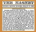 18580315 Another Miracle - Bernadette Soubirous - The Magnet (London).jpg