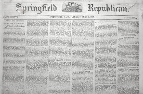 1865 SpringfieldRepublican Massachusetts June3