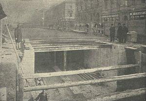 Line 1 (Budapest Metro) - Image: 1896 17 vasút Andrássy út Klösz György 2