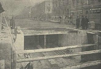 Metro Line M1 (Budapest Metro) - Image: 1896 17 vasút Andrássy út Klösz György 2