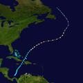 1905 Atlantic hurricane 4 track.png