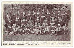 The 1906 Springboks team.