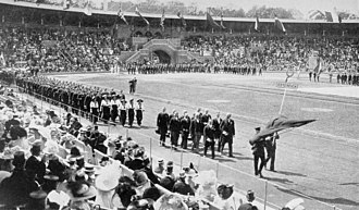 Austria at the 1912 Summer Olympics - The team of Austria at the opening ceremony.