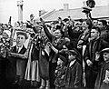 1930-е. Группа людей с портретом Алексея Стаханова.jpg