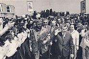 1972 Fidel Castro visiting Romania