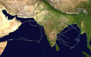 1976 North Indian Ocean cyclone season - Image: 1976 North Indian Ocean cyclone season summary