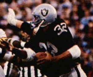 1983 Los Angeles Raiders season - Marcus Allen rushes in Super Bowl XVIII.