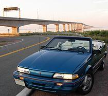 1992 Pontiac Sunbird Convertible at Confederation Bridge.jpg