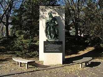 Sioux Falls, South Dakota - Replica of Michelangelo's Moses at Augustana University.