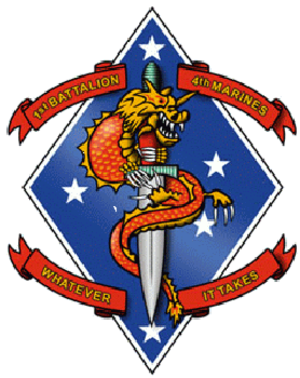 1st Battalion, 4th Marines - 1st Battalion, 4th Marines insignia