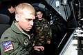 1st Lt. Ryan Cobb demonstrates his job on KC-135 Stratotankers to Kansas Wing Civil Air Patrol cadets.jpg