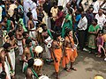 1st day procession with costumed Rama and Lakshmana at the Hindu festival Onam in Kerala.jpg