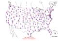 2006-02-01 Max-min Temperature Map NOAA.png
