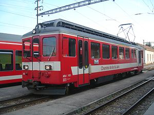 ABDe 4/4 603 with first-class compartment in the middle, 2006 Information deviating from the BDe 4/4 I: