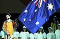 201000 - Opening Ceremony Athletes Oath swimmer Tracey Cross 2 - 3b - 2000 Sydney opening ceremony photo.jpg