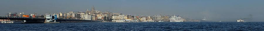 Galata Kulesi'nin İstanbul panoraması içerisinde görünümü