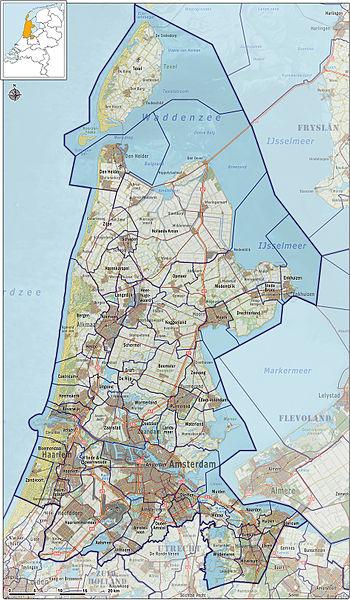 Map North Holland - Visitholland