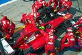2012 Italian GP - Massa pit.jpg
