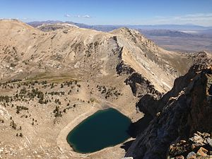 Verdi Lake (Nevada) - Verdi Lake viewed from Verdi Peaks