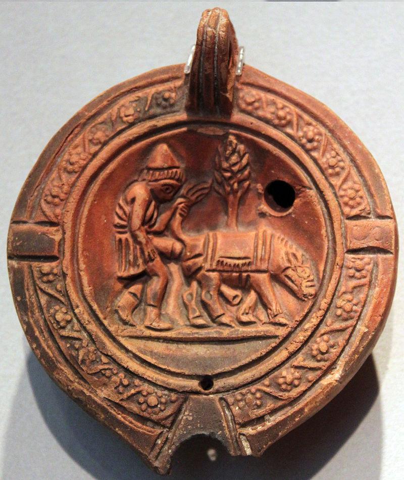 Römische Öllampe, 1. - 3. Jahrhundert n. Chr.