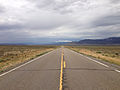 2014-08-11 11 30 15 View west along U.S. Route 50 about 9.4 miles east of the Eureka County line in White Pine County, Nevada.JPG