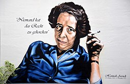 Hannah Arendt Niemand hat das Recht zu gehorchen, Geburtshaus Lindener Marktplatz 2 Ecke Falkenstraße in Hannover-Linden-Mitte