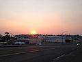 2014-09-09 18 41 46 Smokey sunset on 5th Street (Nevada State Route 227) in Elko, Nevada.JPG