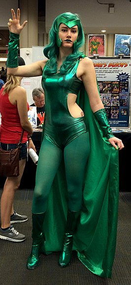 Cosplayer Polaris tijdens 2014 Dragon Con.