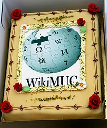 WikiMUC's official opening event with cake